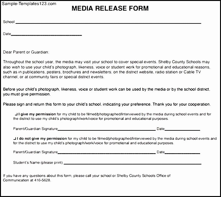 Social Media Release form Template New social Media Release form