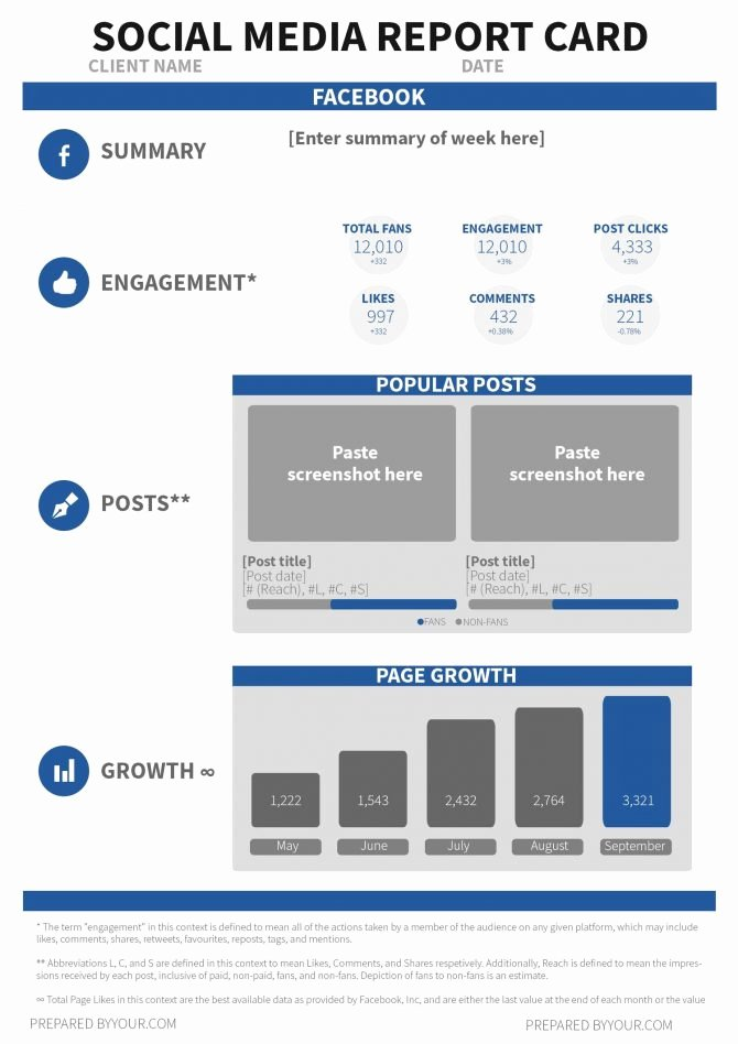 Social Media Reporting Template Beautiful social Media Report Template