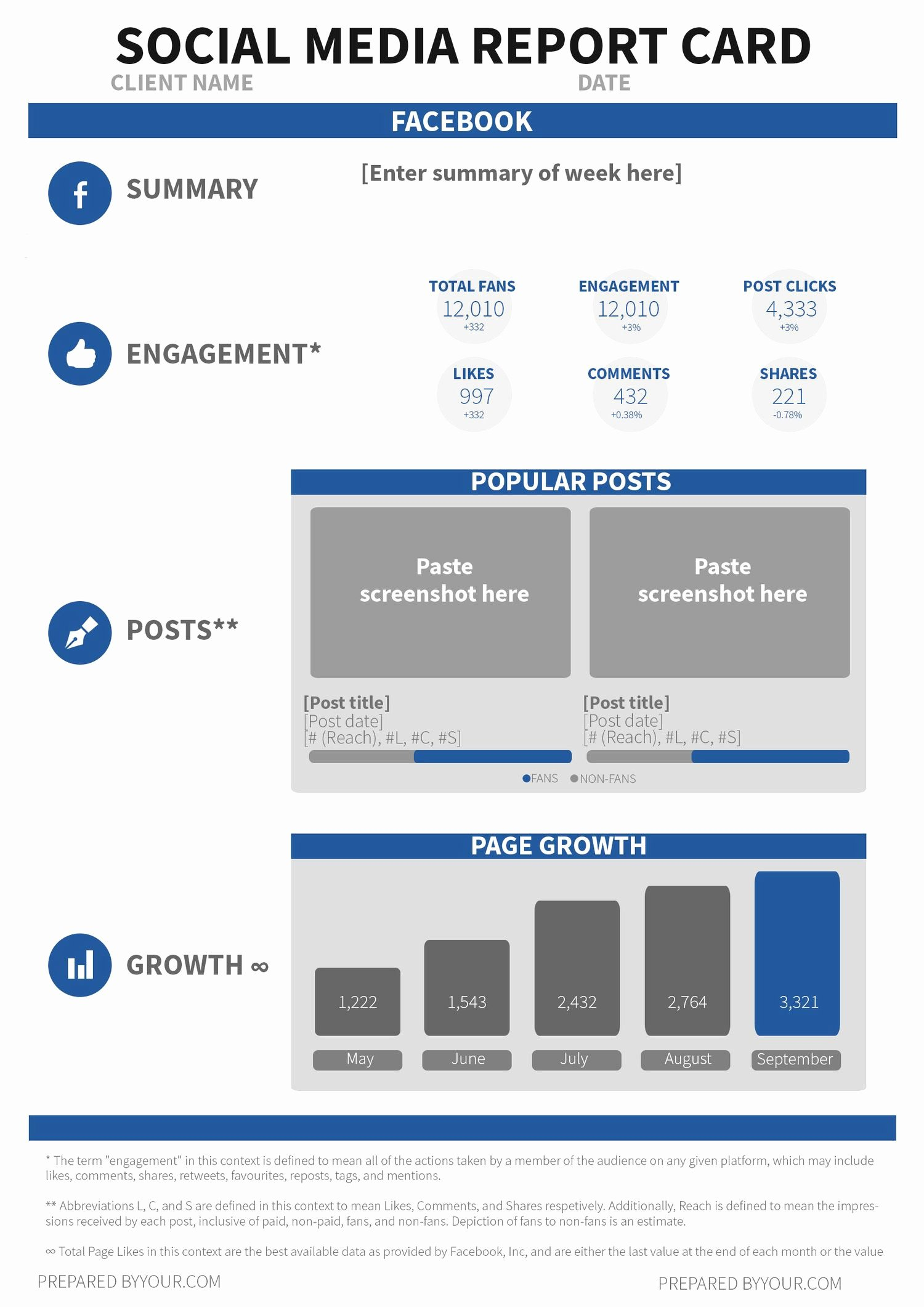 Social Media Reporting Template Elegant social Media Report Template social Media Report Template