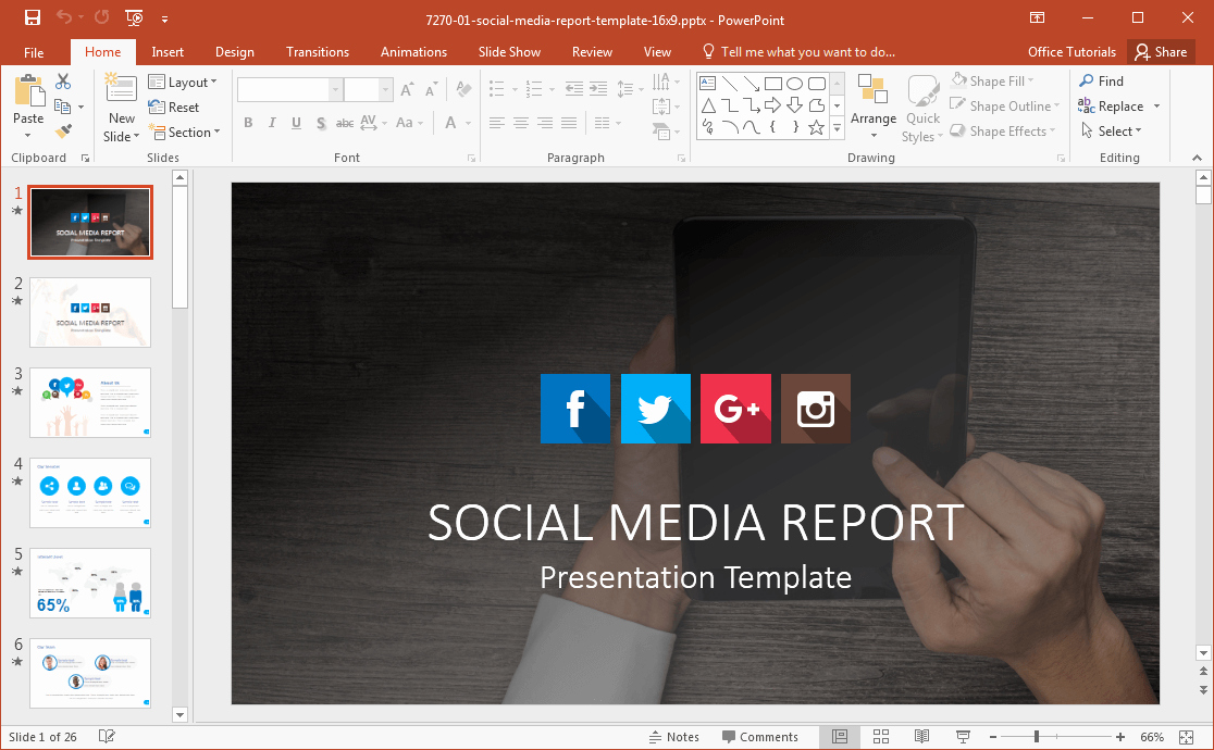 Social Media Reporting Template Unique social Media Powerpoint Template