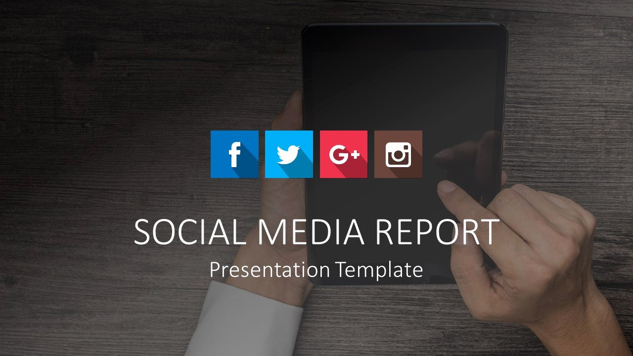 Social Media Reports Template Awesome social Media Report Powerpoint Templates Slidemodel