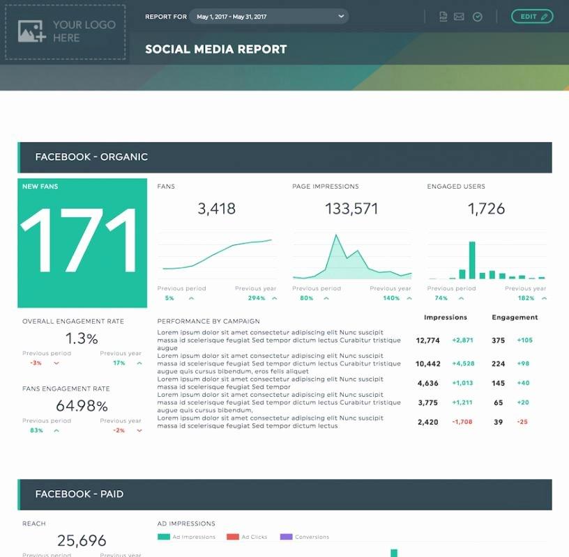 Social Media Reports Template Best Of social Media Report Templates