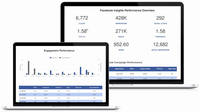 Social Media Reports Template Elegant social Media Report Template