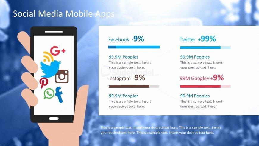 Social Media Reports Template Lovely social Media Apps Powerpoint Template Slidemodel