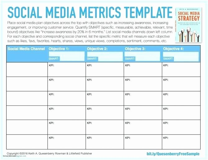 Social Media Reports Template Luxury social Media Report Template Excel and Performance Content