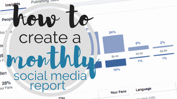 Social Media Reports Template Luxury [template] How to Create A Monthly social Media Report