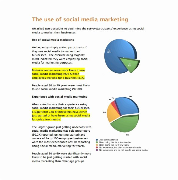 Social Media Reports Template New 22 Marketing Report Templates Word Pdf Pages Docs