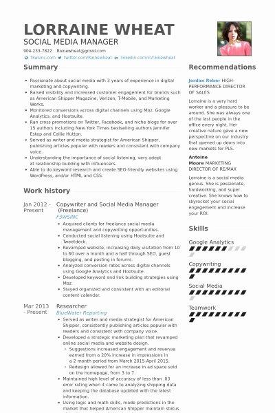Social Media Resume Template Beautiful social Media Resume Template Invitation Template
