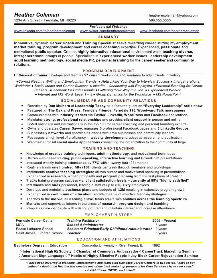 Social Media Resume Template Beautiful social Media Resume Template