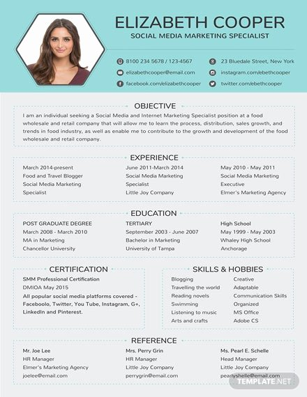 Social Media Resume Template Fresh Free Best Fashion Cv Template Download 200 Resume