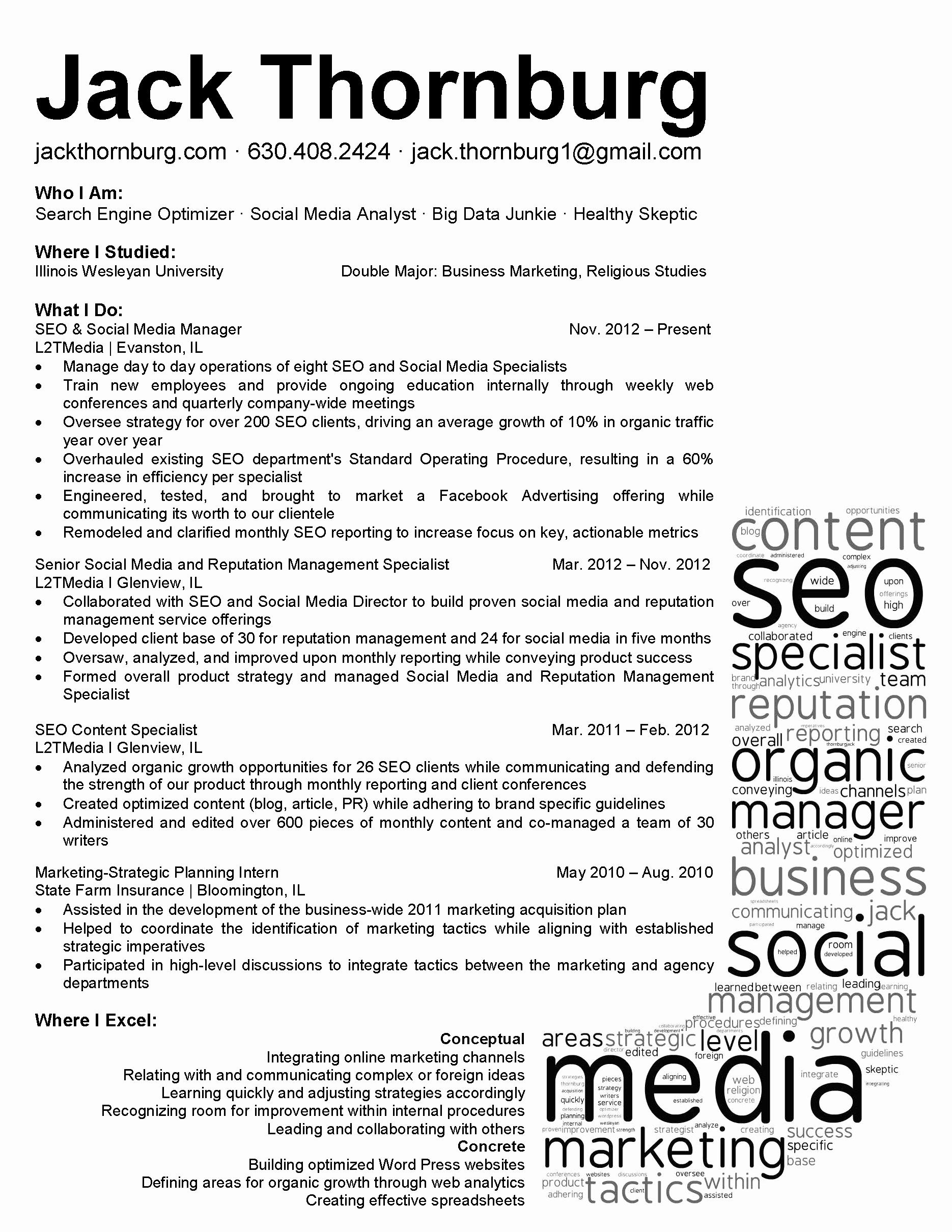 Social Media Resume Template Lovely social Media Strategist Cover Letter 3 638 Cb= Interesting
