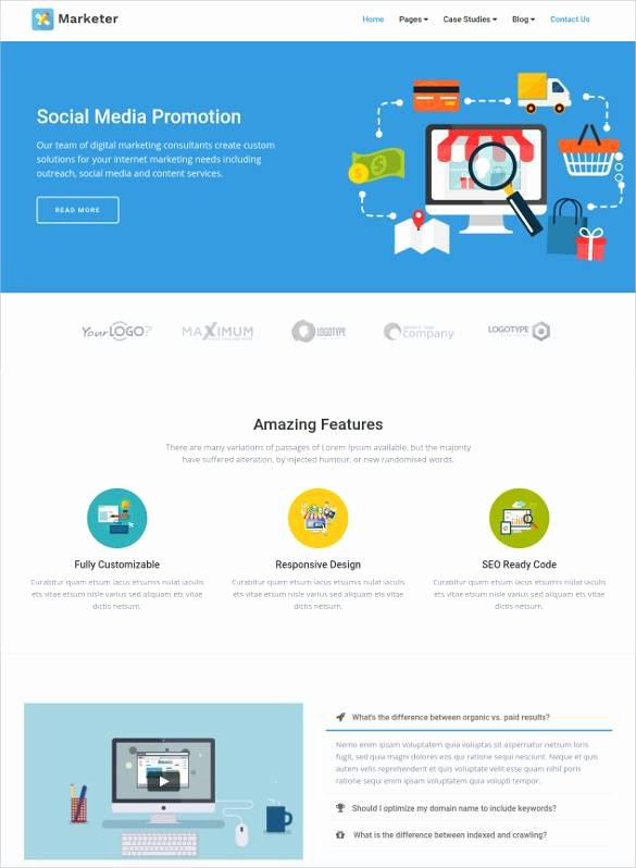 Social Media Website Template Awesome 24 social Media Website themes & Templates