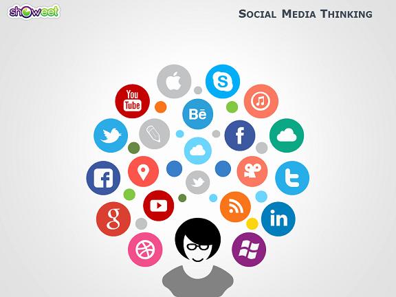 Social Media Website Template Beautiful social Media Powerpoint Template Free Download