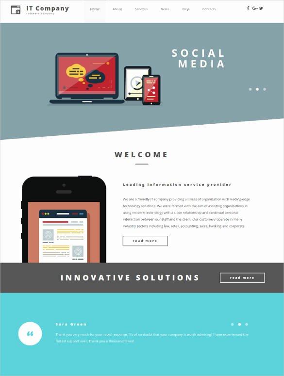 Social Media Website Template Elegant 24 social Media Website themes & Templates