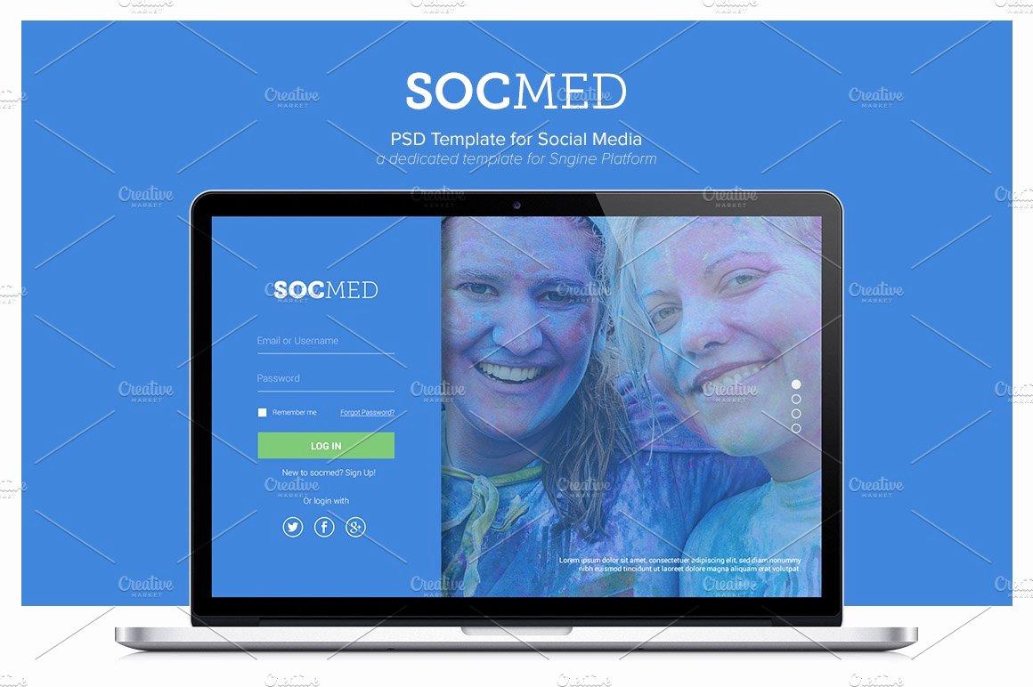 Social Media Website Template Fresh socmed social Media Template Psd Web Elements