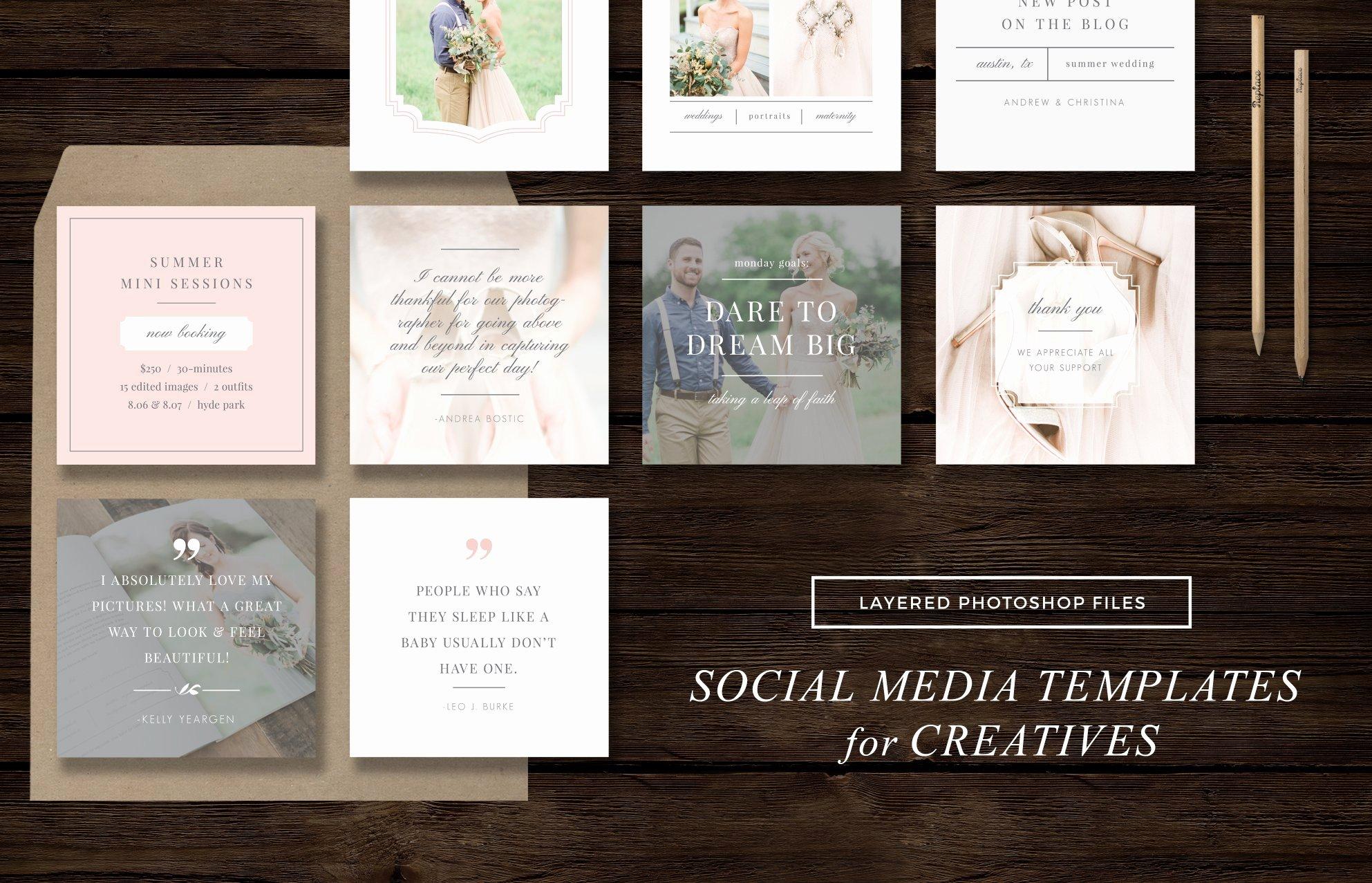 Social Media Website Template Inspirational social Media Templates Instagram Web Elements