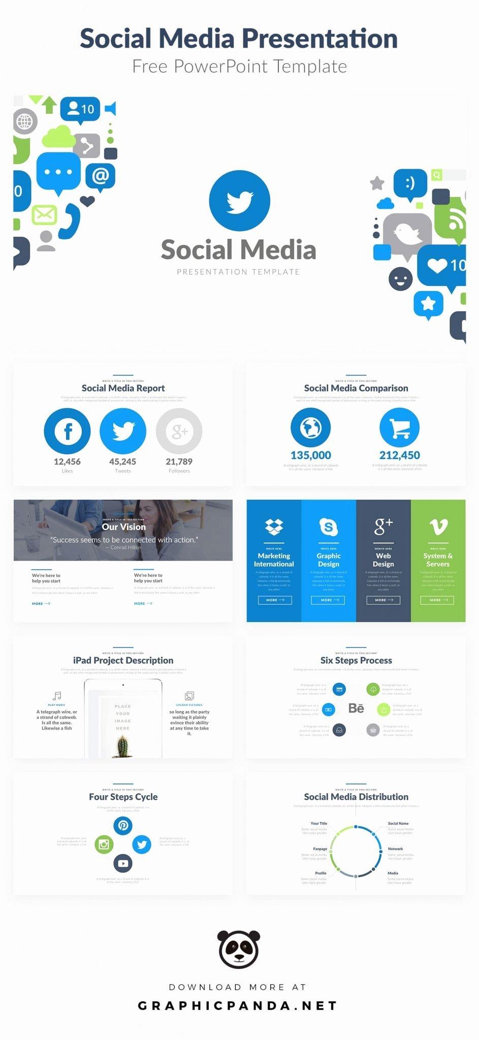 Social Media Website Template Lovely 10 Free social Media Slides Templates for Microsoft Powerpoint