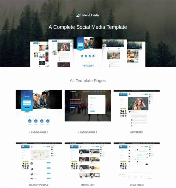 Social Network Website Template Best Of 15 social Network Bootstrap themes & Templates