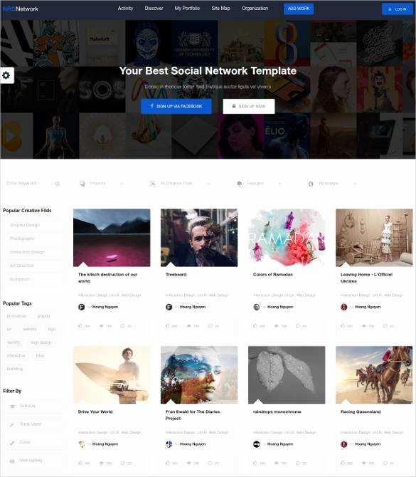 Social Network Website Template Best Of 24 social Media Website themes & Templates