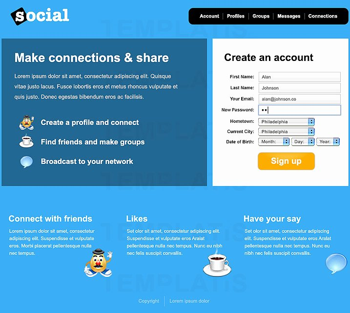 Social Network Website Template Best Of social Media Web Templates – Emmamcintyrephotography