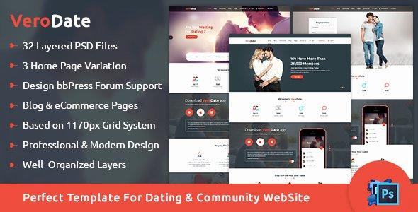 Social Network Website Template Fresh Verodate Dating social Network Website Psd Template by