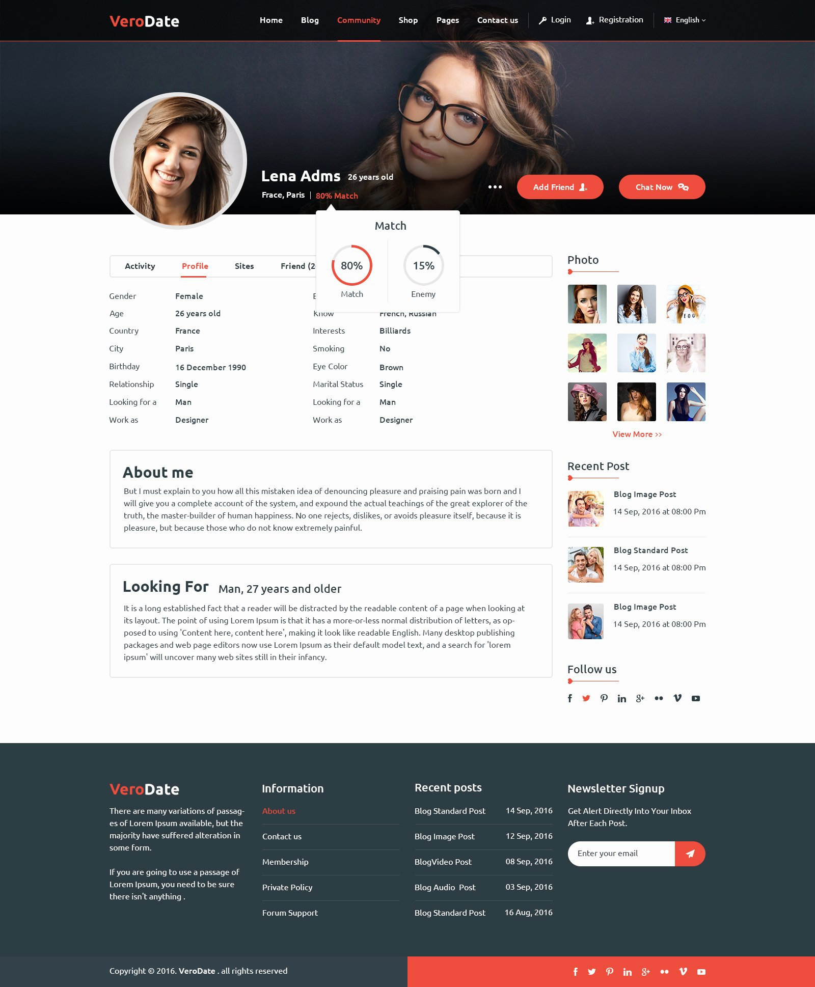Social Network Website Template Fresh Verodate Dating social Network Website Psd Template by