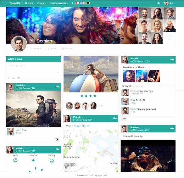 Social Network Website Template Inspirational 24 social Media Website themes & Templates