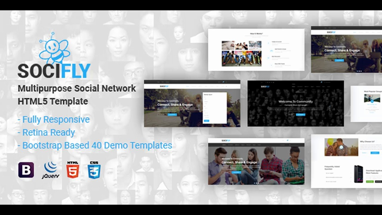 Social Network Website Template Inspirational socifly