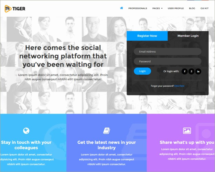 Social Network Website Template Lovely 30 Best social Media Website Templates Free Download