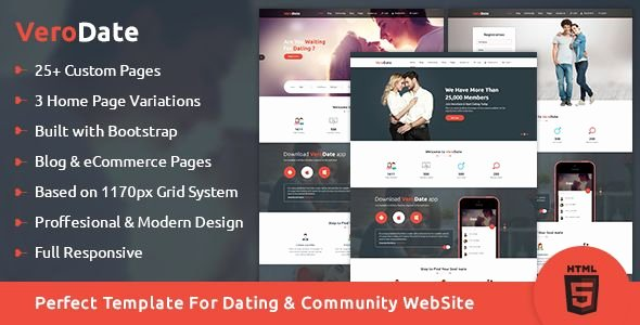 Social Network Website Template Lovely Verodate Dating social Network Website HTML Template by