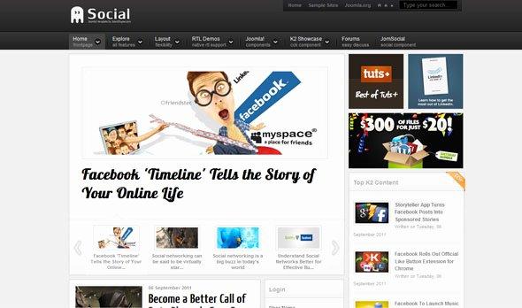 Social Network Website Template New Shaper social social Networking Joomla 2 5 Template