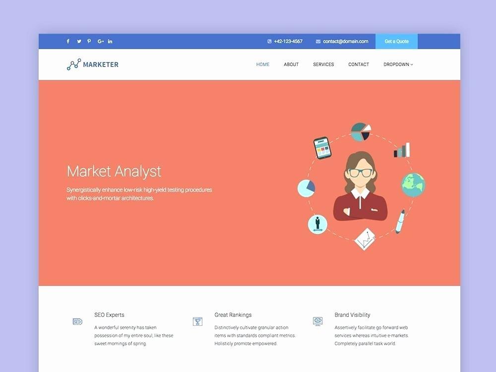 Social Network Website Template Unique Marketer Line Marketing Website Template social Network