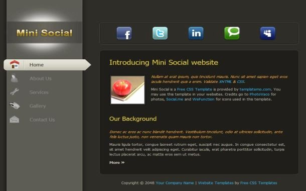 Social Networking Web Template Beautiful Free Black Movies Gallery Website Template