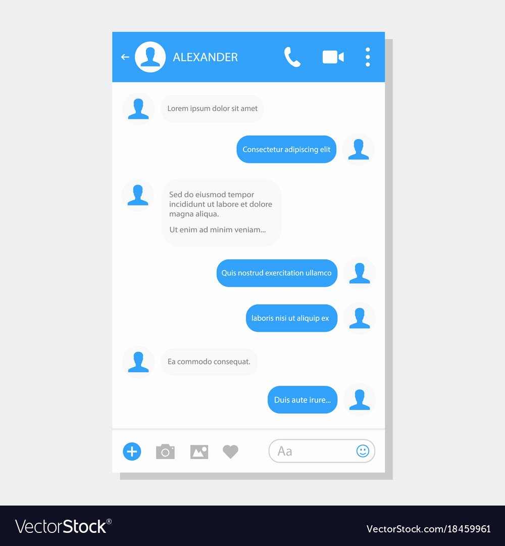 Social Networking Web Template Best Of social Network Messenger Page Template Royalty Free Vector
