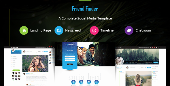 Social Networking Web Template Elegant 15 social Media Website themes Free & Premium Templates