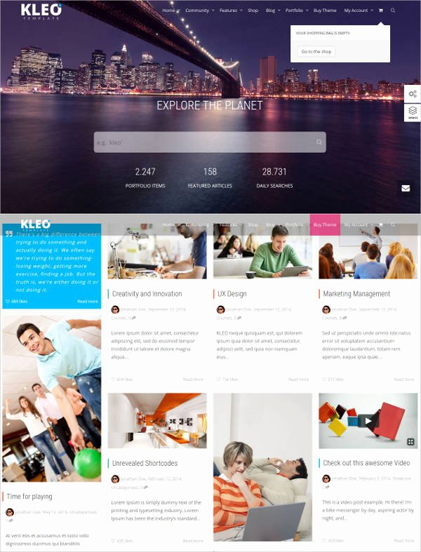 Social Networking Web Template Elegant 15 social Network Bootstrap themes & Templates