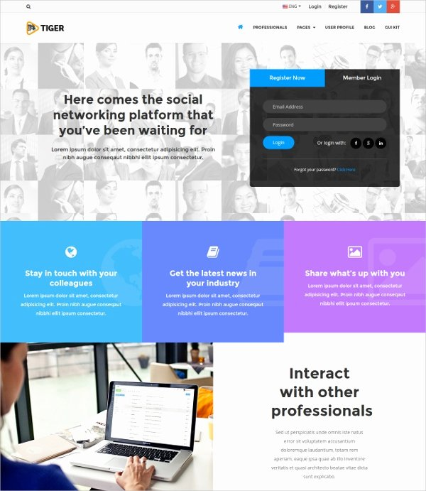 Social Networking Web Template Fresh 15 social Network Bootstrap themes & Templates