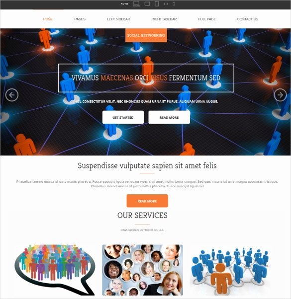 Social Networking Web Template Inspirational 38 social Media Website themes & Templates