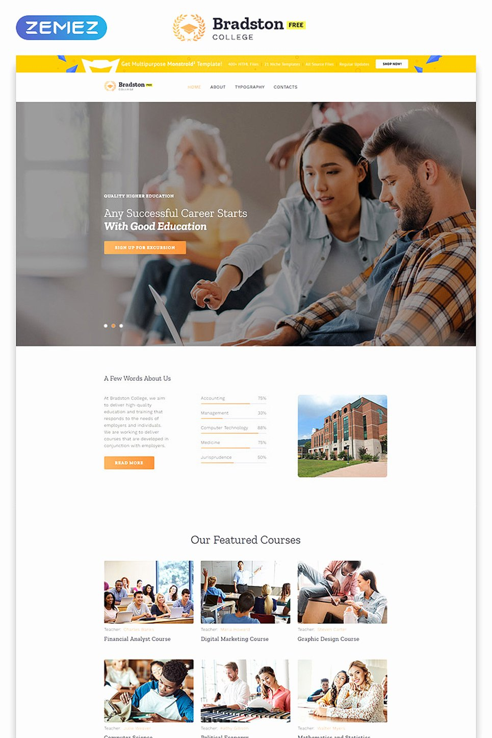 Social Networking Web Template Luxury Free Education Website Template