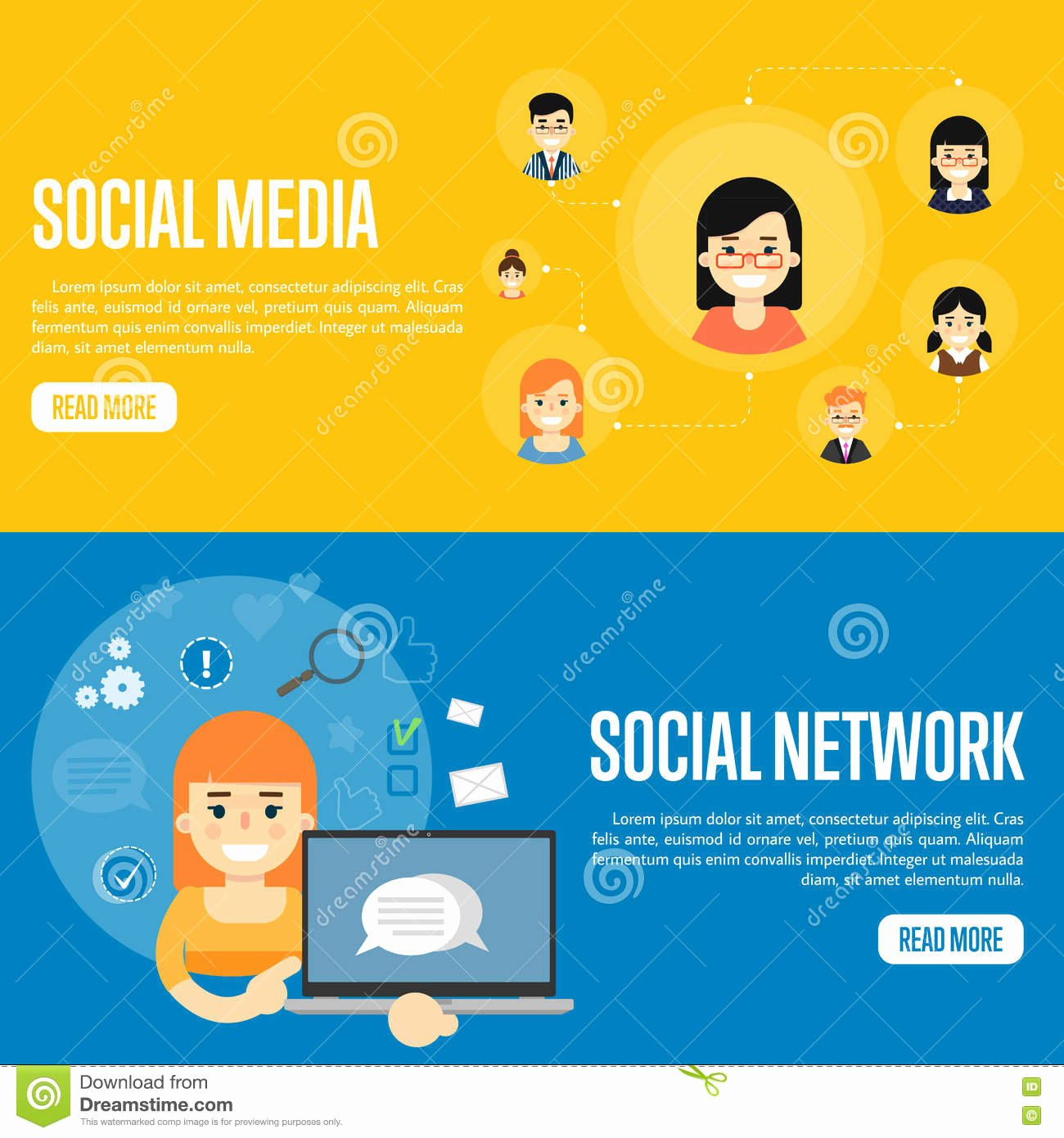 Social Networking Web Template Unique social Media Network Website Templates Stock Vector