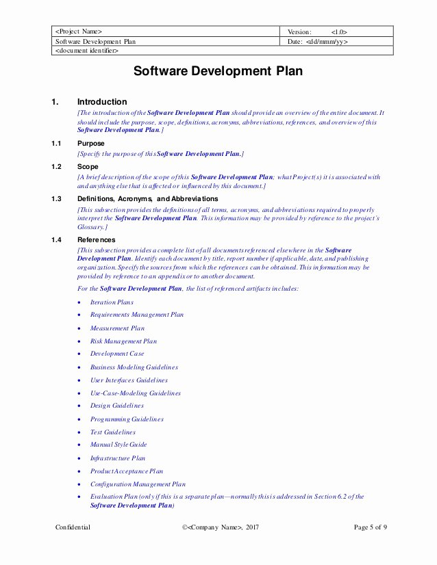 Software Development Plan Template Best Of software Development Plan Template