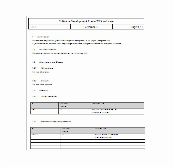 Software Development Plan Template Fresh 23 Project Plan Template Doc Excel Pdf