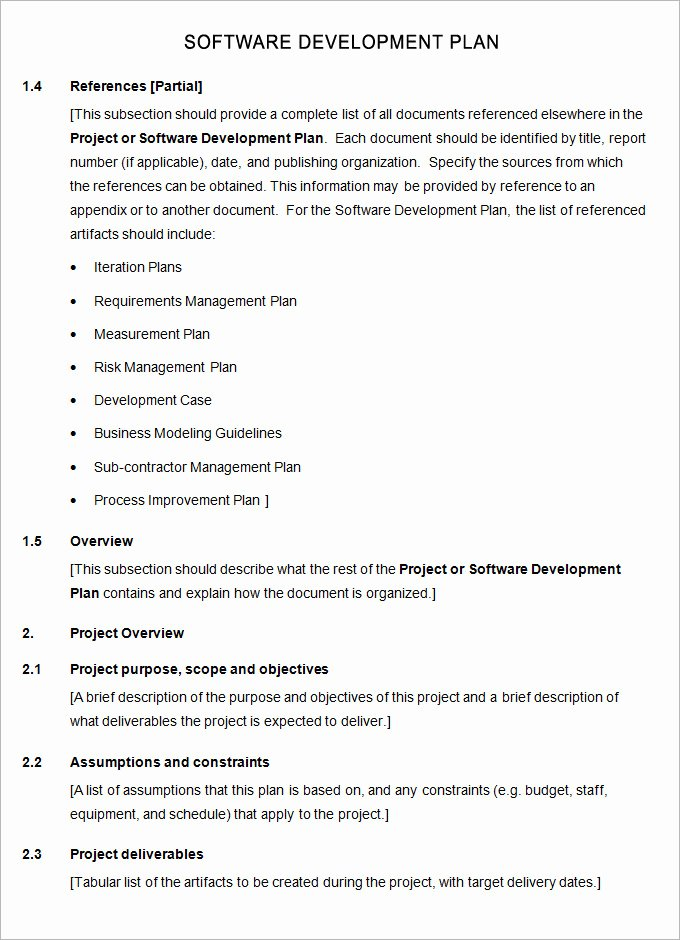 Software Development Project Plan Template Elegant software Plan Template 7 Free Word Pdf Excel