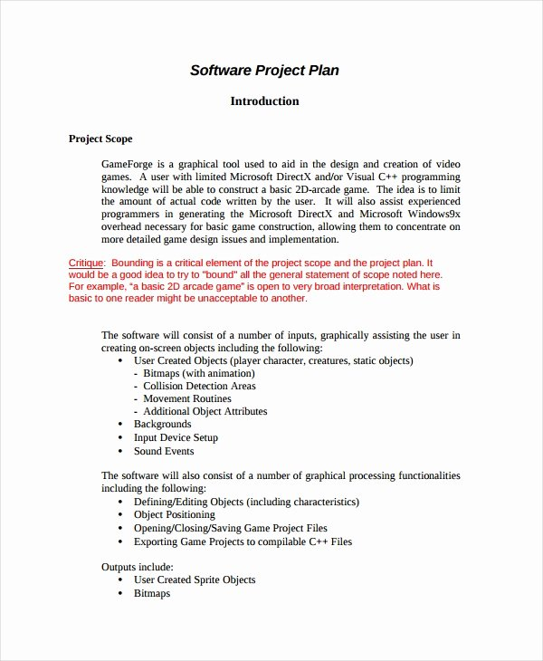 Software Development Project Plan Template Unique 15 Project Plan Templates