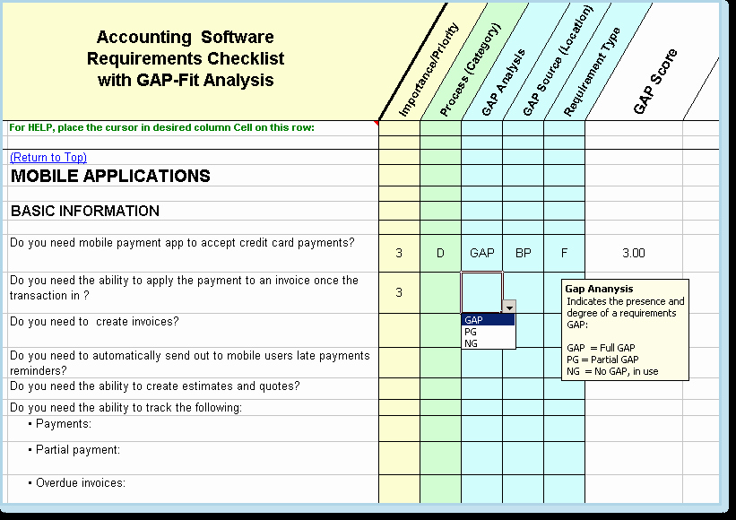 Software Gap Analysis Template Inspirational 21 Of Accounting software Evaluation Matrix