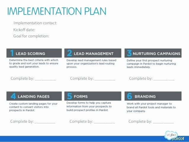Software Implementation Plan Template Best Of 6 Example An Implementation Plan Process Improvement