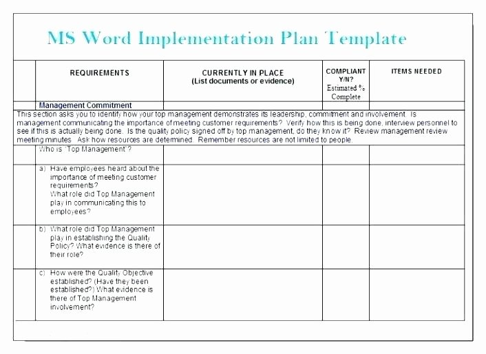 Software Implementation Plan Template Excel Awesome software Implementation Plan Template Excel Fresh Project