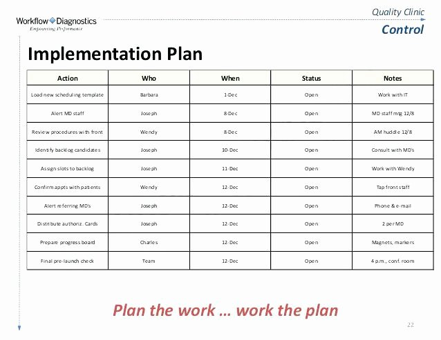 Software Implementation Plan Template New Implementation Plan Template Excel Project Examples In