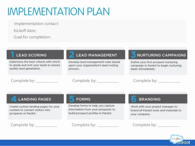 Software Implementation Plan Template Unique Marketing Automation Success Planning Template