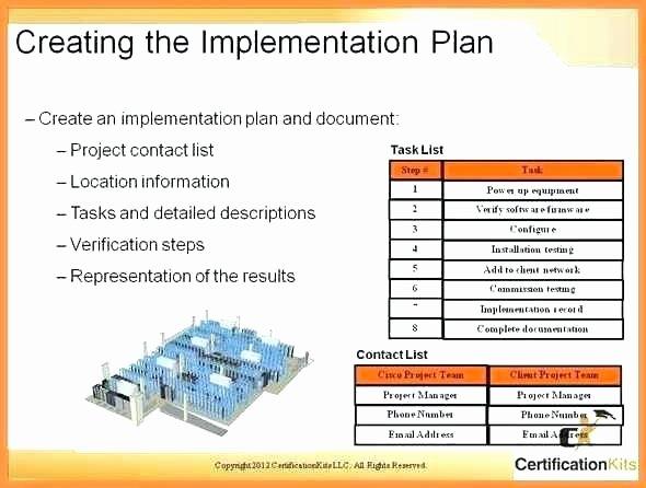 Software Implementation Plan Template Unique software Installation Plan Template Project Management